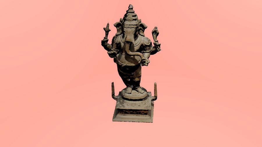 Hindu Hod Lord Ganesha royalty-free 3d model - Preview no. 4