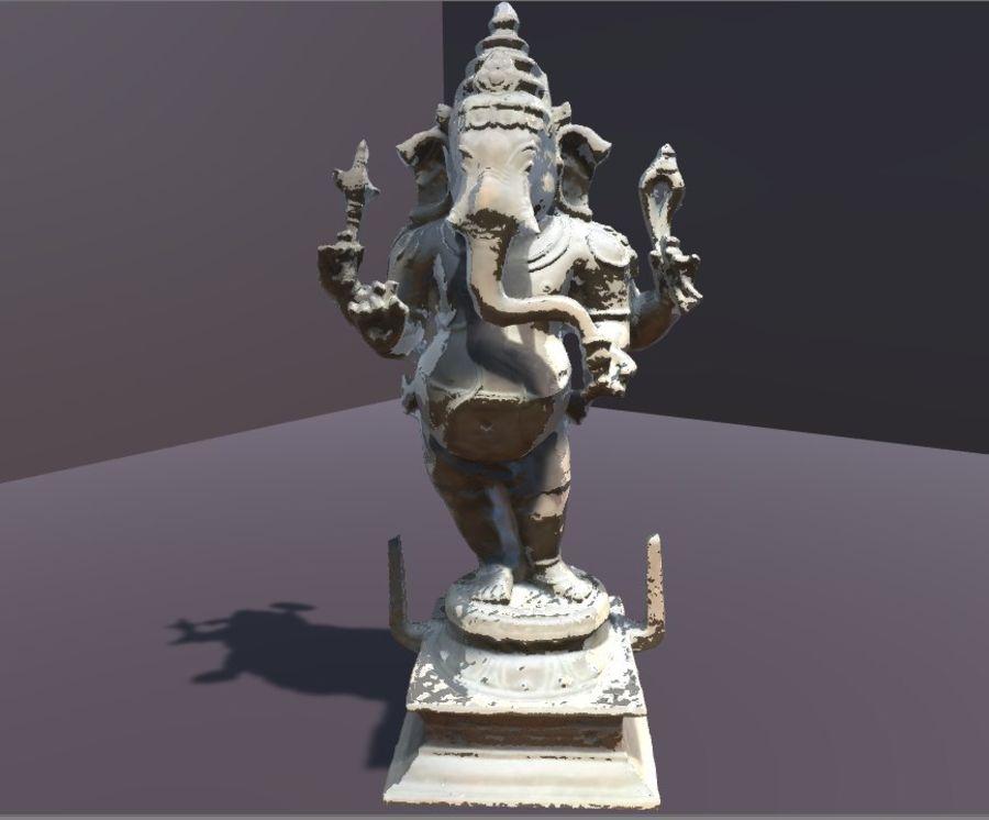 Hindu Hod Lord Ganesha royalty-free 3d model - Preview no. 7