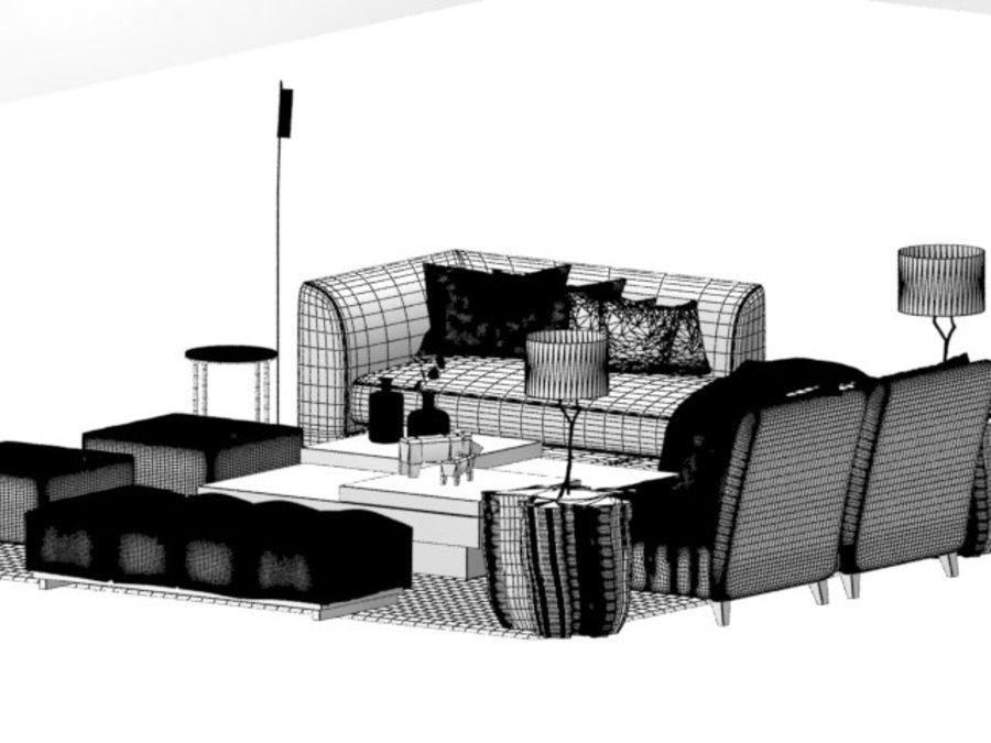 zestaw do salonu royalty-free 3d model - Preview no. 6
