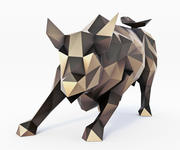 Wall Street Bull Low Poly 3d model