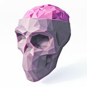 Low Poly Skull Brain 3d model
