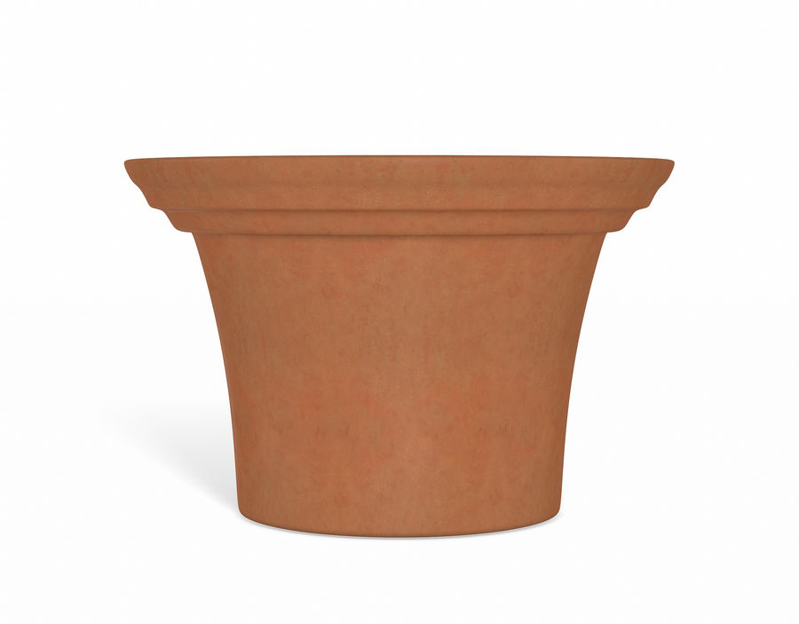 Flower Pot - Clay royalty-free 3d model - Preview no. 2