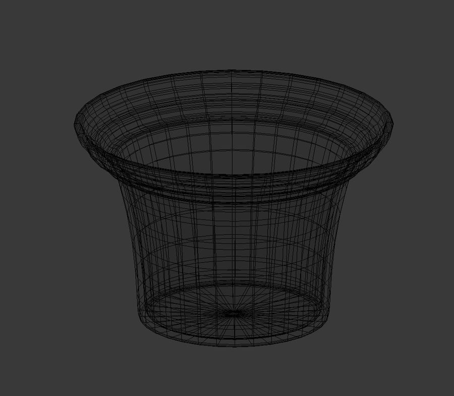 Flower Pot - Clay royalty-free 3d model - Preview no. 7