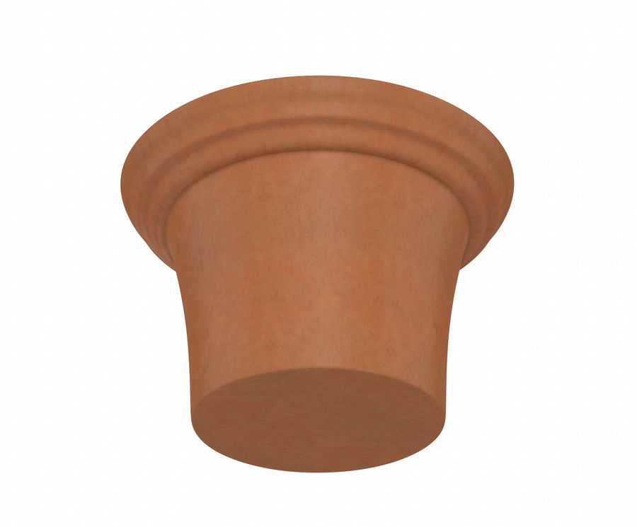 Flower Pot - Clay royalty-free 3d model - Preview no. 3