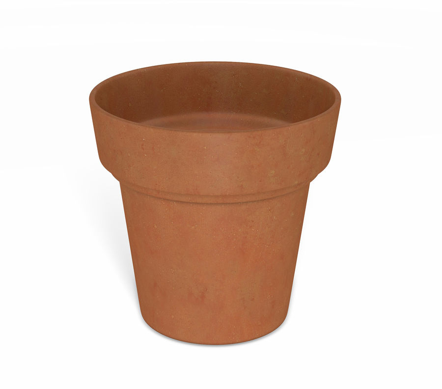 Flower Pot - Clay royalty-free 3d model - Preview no. 1