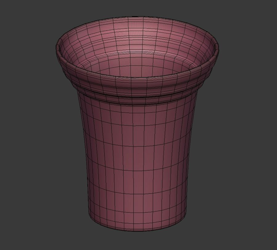 Flower Pot - Clay royalty-free 3d model - Preview no. 6