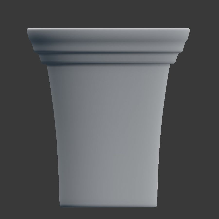 Flower Pot - Clay royalty-free 3d model - Preview no. 4