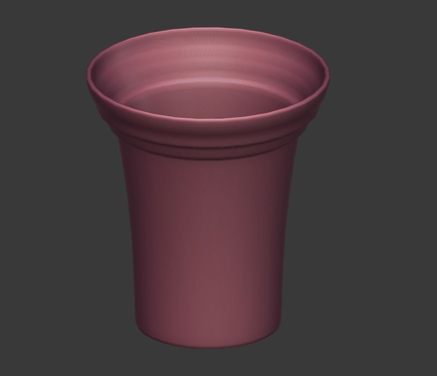 Flower Pot - Clay royalty-free 3d model - Preview no. 5