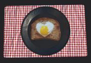 フライパン卵の朝食 3d model
