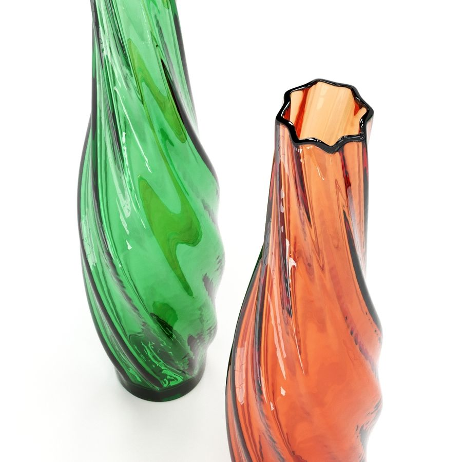 Vases colored glass royalty-free 3d model - Preview no. 4