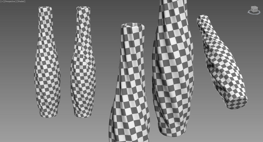 Vases colored glass royalty-free 3d model - Preview no. 11