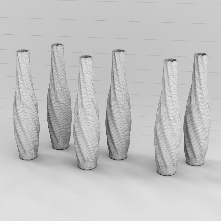 Vases colored glass royalty-free 3d model - Preview no. 6