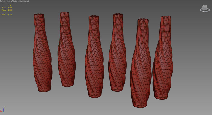 Vases colored glass royalty-free 3d model - Preview no. 9