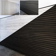 Wooden slats White and Black 3d model