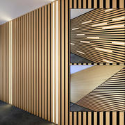 Wooden slats 4 3d model