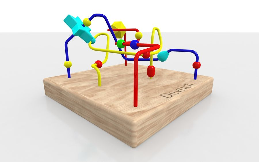Child toy royalty-free 3d model - Preview no. 2