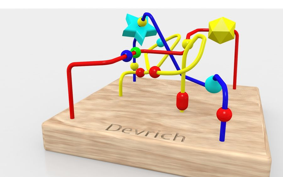 Child toy royalty-free 3d model - Preview no. 5