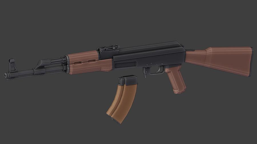 ak-47 low poly royalty-free 3d model - Preview no. 10