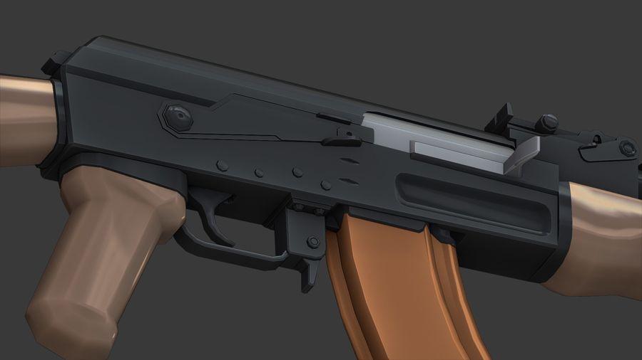 ak-47 low poly royalty-free 3d model - Preview no. 6