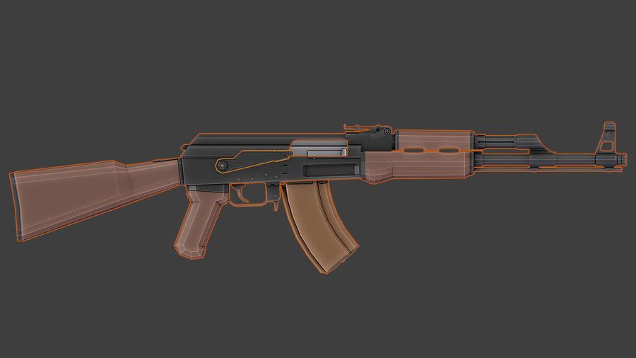 ak-47 low poly royalty-free 3d model - Preview no. 11