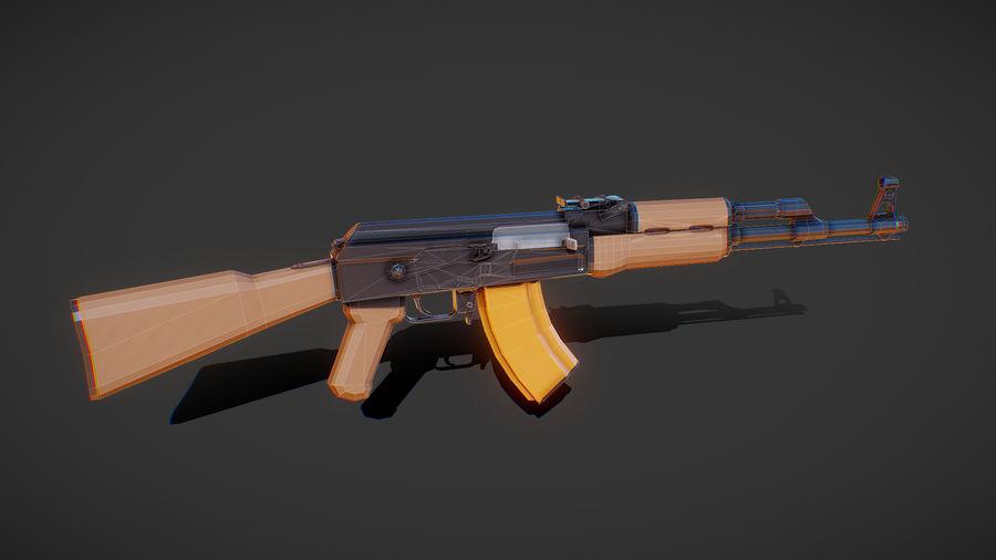 ak-47 low poly royalty-free 3d model - Preview no. 1