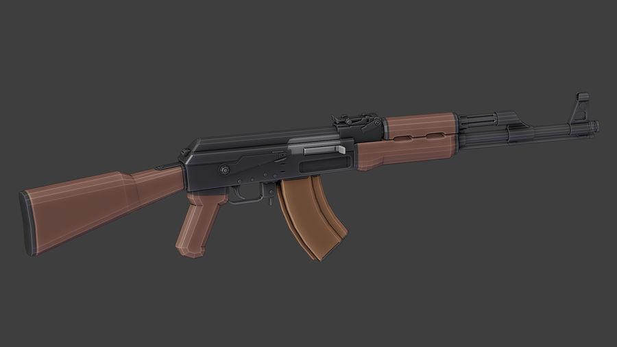 ak-47 low poly royalty-free 3d model - Preview no. 13