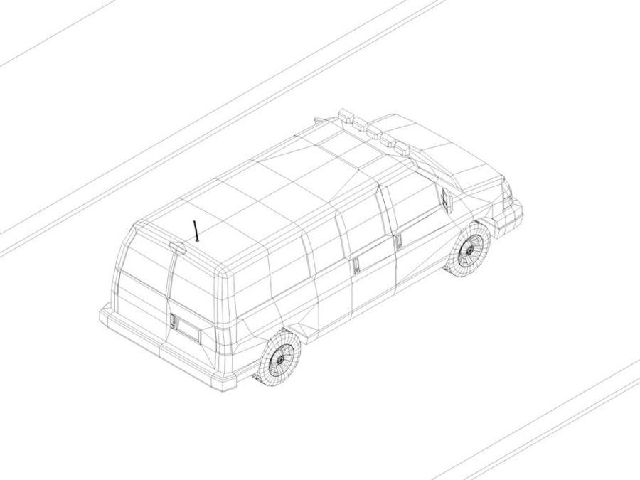 Dessin animé Low Poly Van Vehicle royalty-free 3d model - Preview no. 7