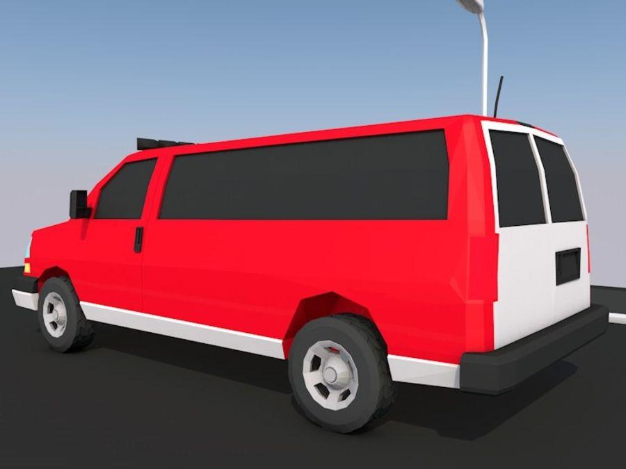 Dessin animé Low Poly Van Vehicle royalty-free 3d model - Preview no. 2