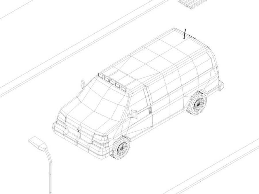 Dessin animé Low Poly Van Vehicle royalty-free 3d model - Preview no. 6