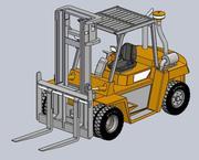 Chariot élévateur 3d model