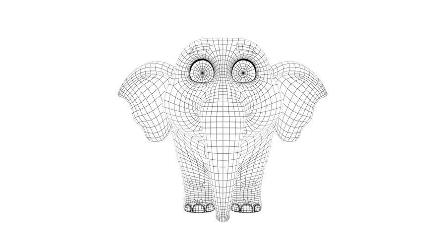 Éléphant de bébé dessin animé royalty-free 3d model - Preview no. 7