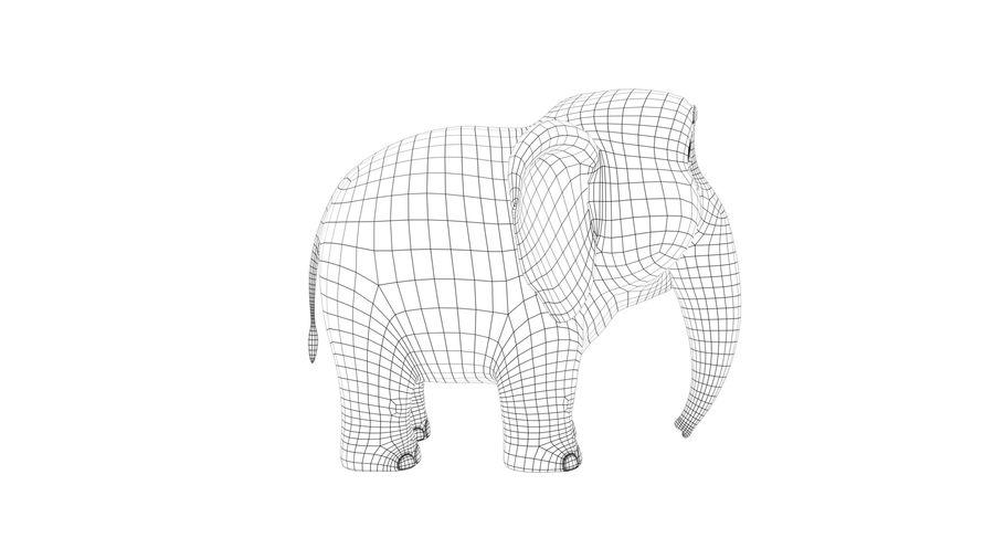 Éléphant de bébé dessin animé royalty-free 3d model - Preview no. 9