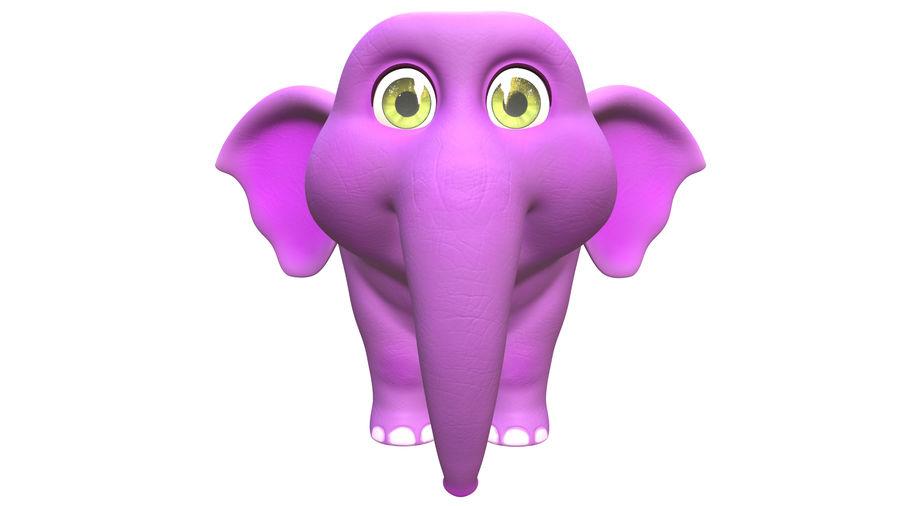 Éléphant de bébé dessin animé royalty-free 3d model - Preview no. 2