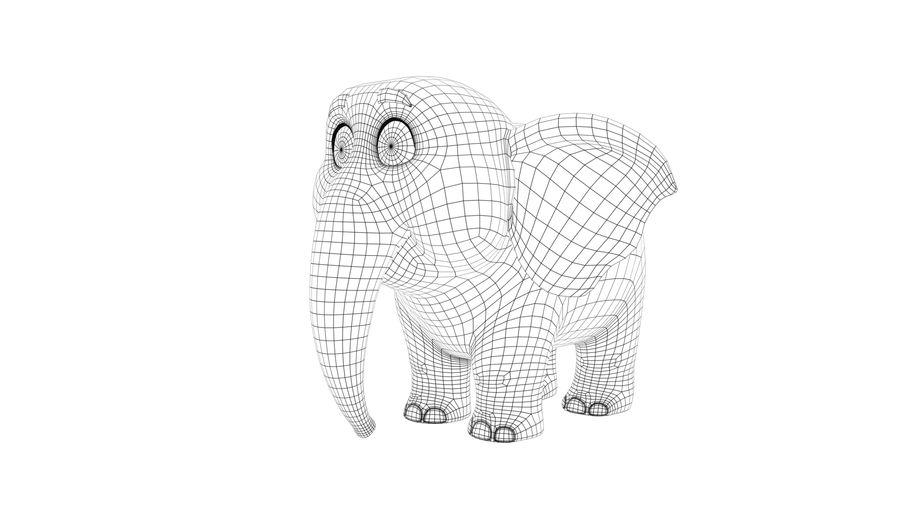 Éléphant de bébé dessin animé royalty-free 3d model - Preview no. 8
