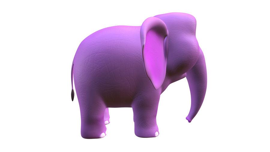 Éléphant de bébé dessin animé royalty-free 3d model - Preview no. 4