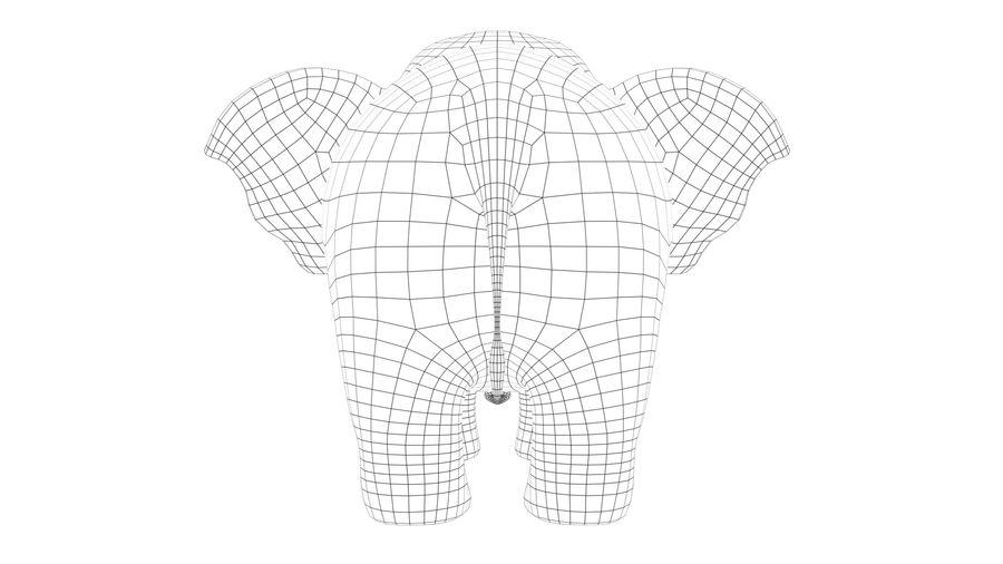 Éléphant de bébé dessin animé royalty-free 3d model - Preview no. 10