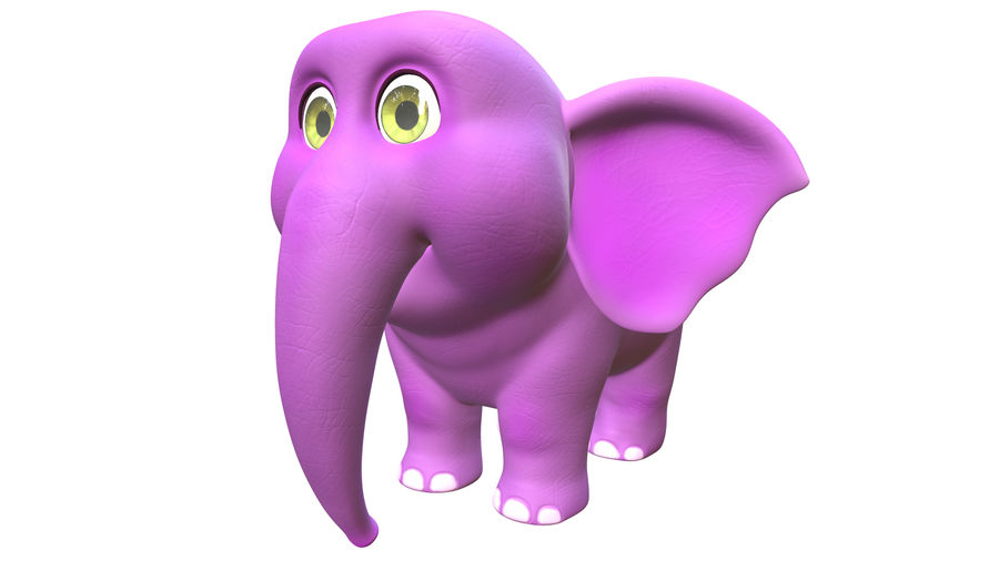 Éléphant de bébé dessin animé royalty-free 3d model - Preview no. 1