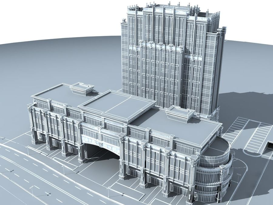 building 40 royalty-free 3d model - Preview no. 4