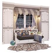 Кровать диван Океан. оконная композиция. 3d model