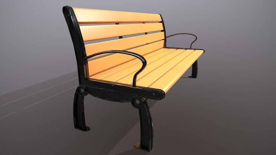 Commercial Mall Bench royalty-free 3d model - Preview no. 5