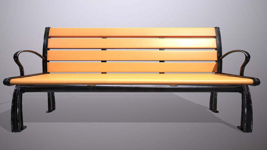 Commercial Mall Bench royalty-free 3d model - Preview no. 3
