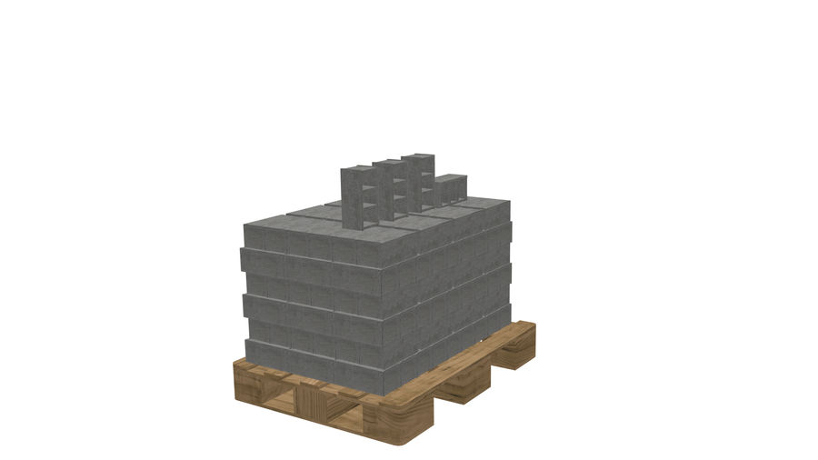 Pallet Architecture royalty-free 3d model - Preview no. 1