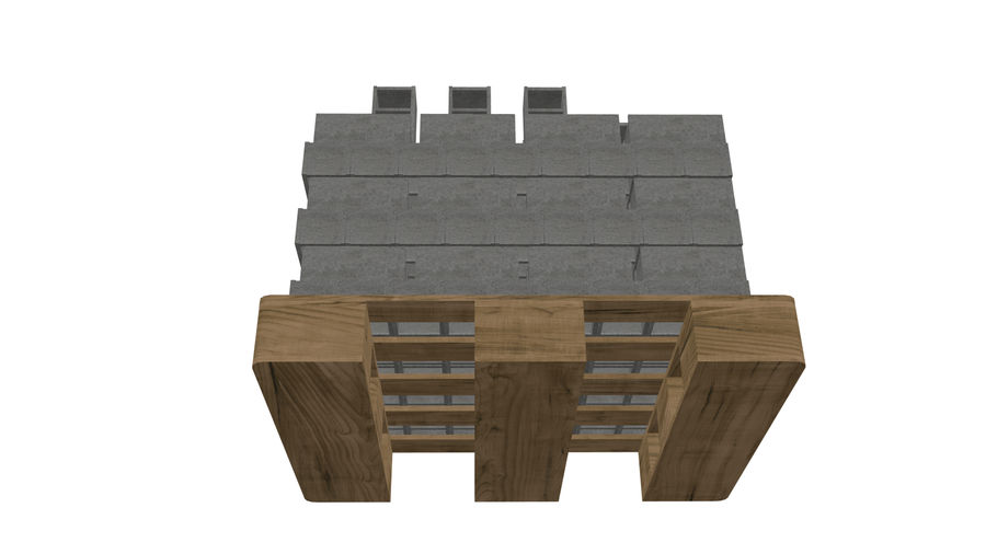 Pallet Architecture royalty-free 3d model - Preview no. 5