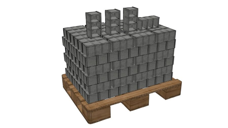 Pallet Architecture royalty-free 3d model - Preview no. 6