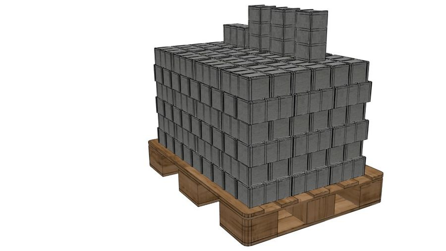 Pallet Architecture royalty-free 3d model - Preview no. 9