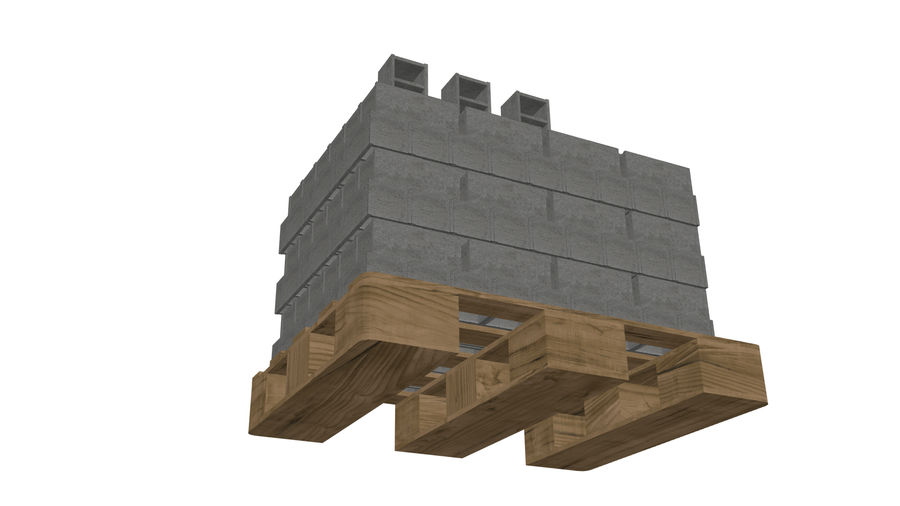 Pallet Architecture royalty-free 3d model - Preview no. 4