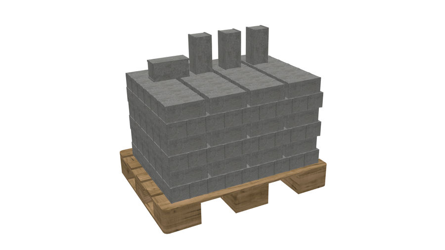 Pallet Architecture royalty-free 3d model - Preview no. 3