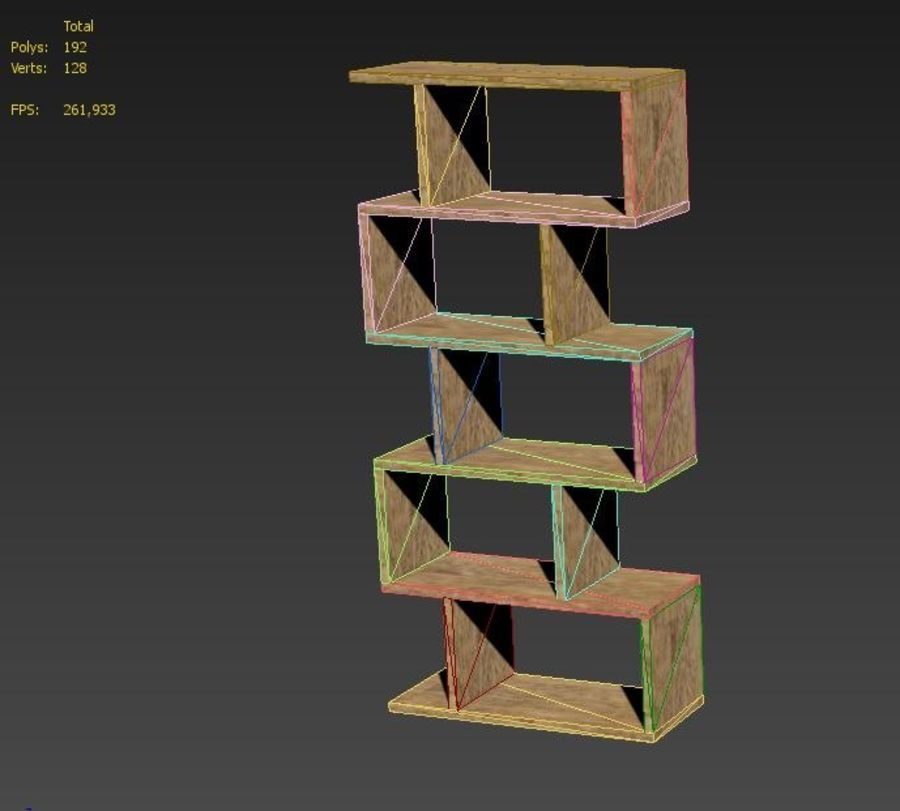 Bookshelf royalty-free 3d model - Preview no. 10
