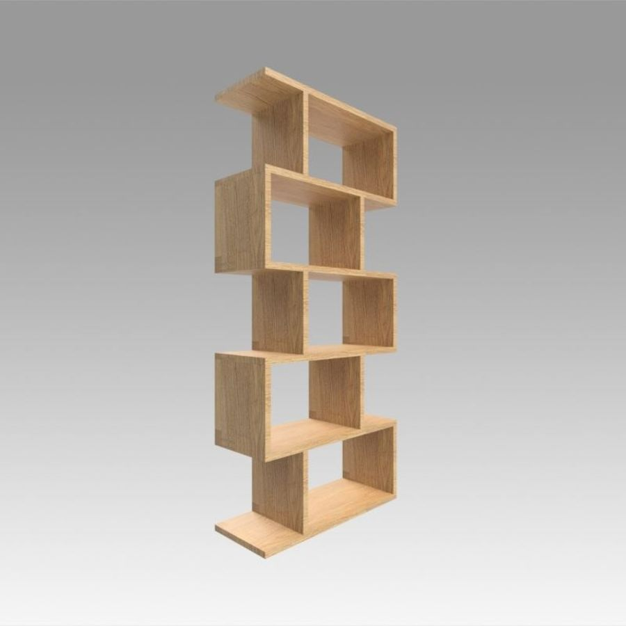 Bookshelf royalty-free 3d model - Preview no. 4