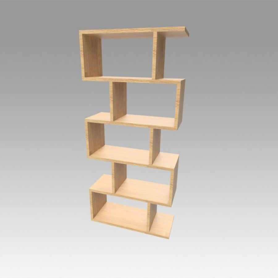 Bookshelf royalty-free 3d model - Preview no. 1